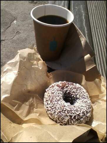 © 2012 S. D. Stewart, Pepples vegan donut & Blue Bottle hand-drip coffee