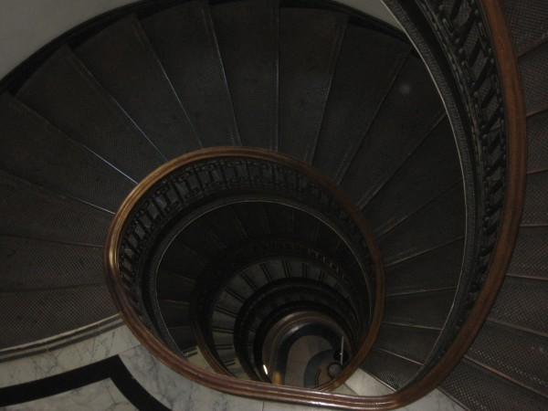 © 2012 S. D. Stewart, Staircase at Mechanics' Institute Library Building