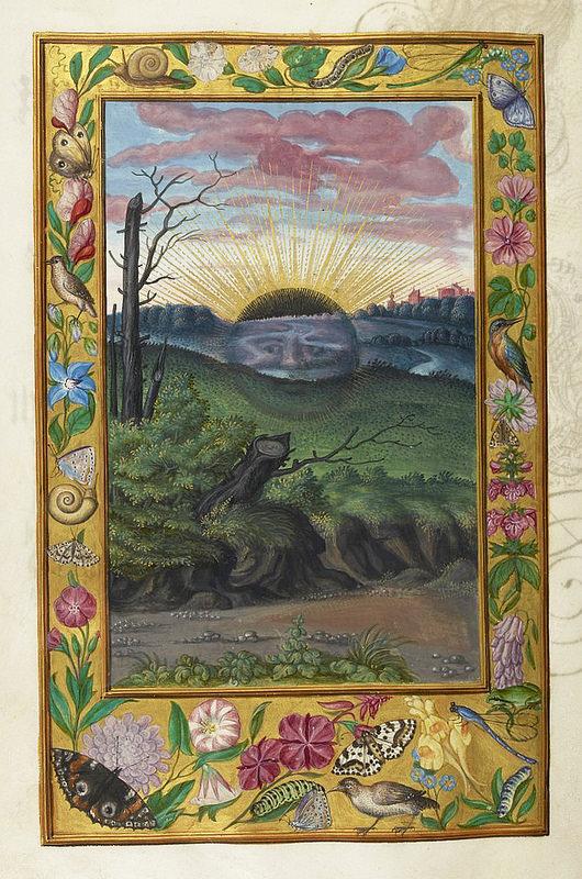 """Black Sun"", from Splendor Solis, a German alchemical treatise, 1582"