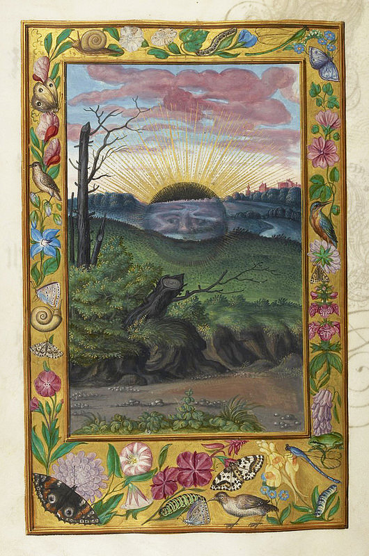 """Black Sun"", from Splendor Solis, a German alchemical treatise, 1582"